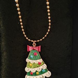 Betsey Johnson Christmas tree Necklace...